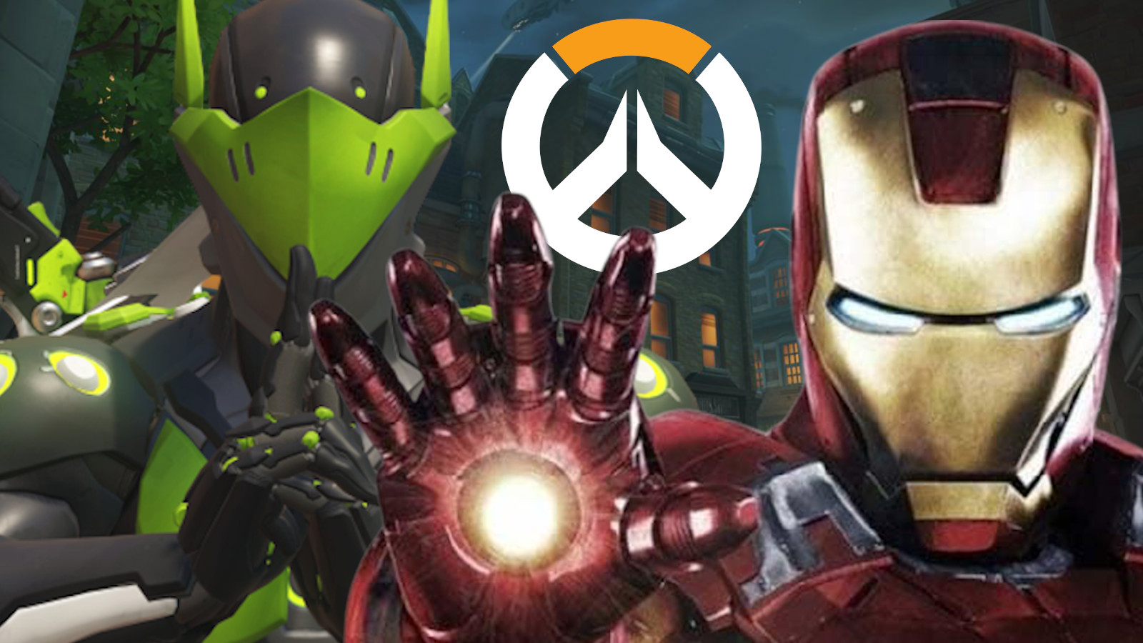 Genji Ironman in Overwatch's Kings Row map