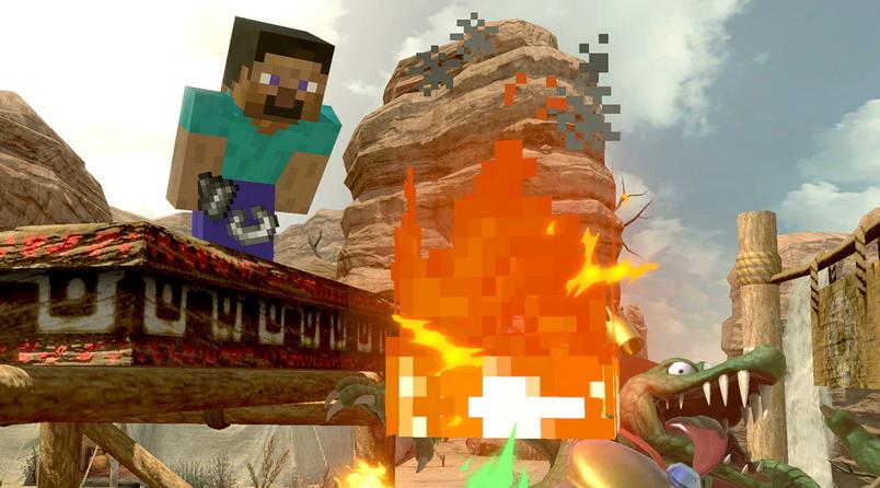 Steve in Smash Ultimate
