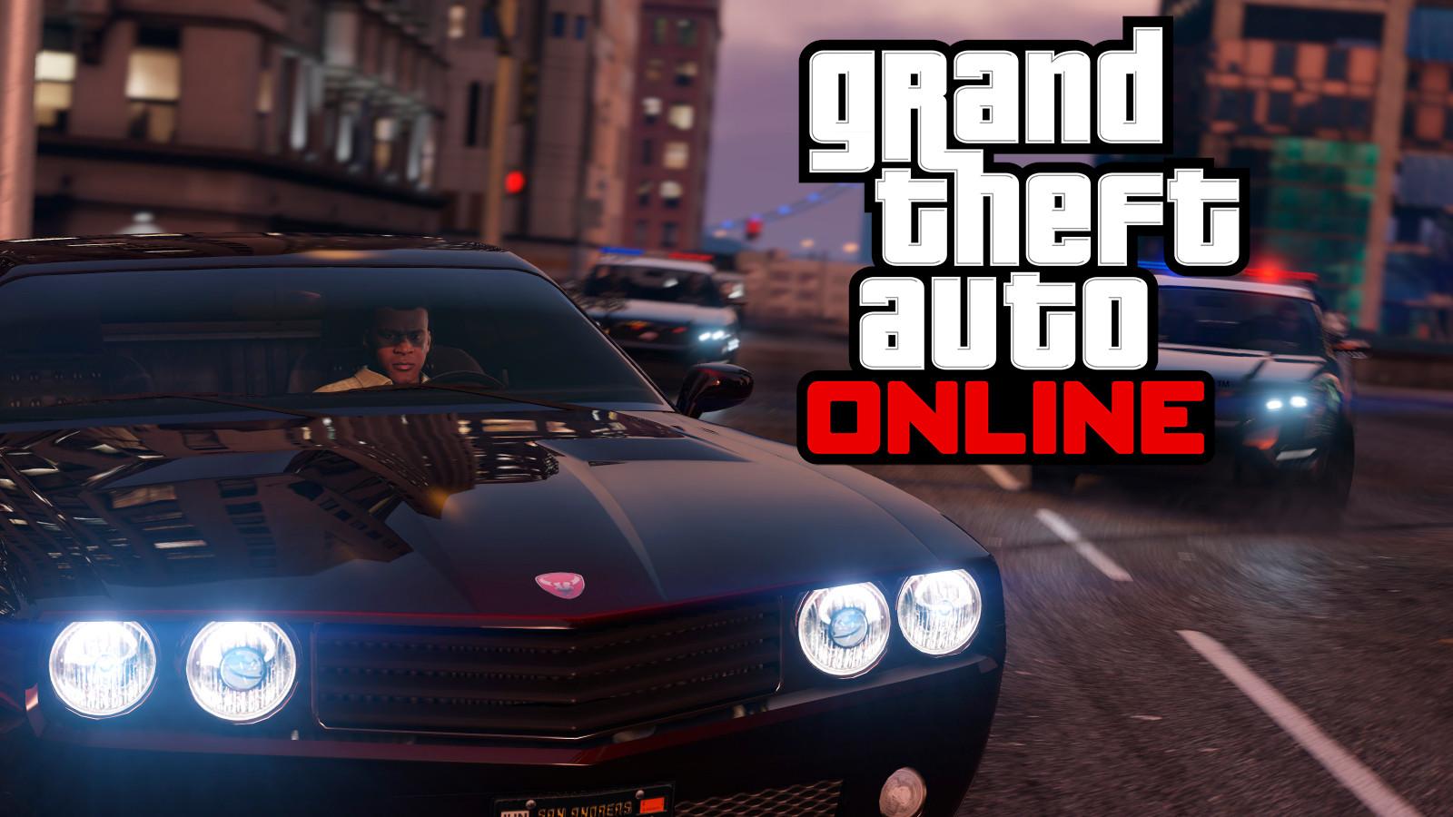 Racing police in GTA Online