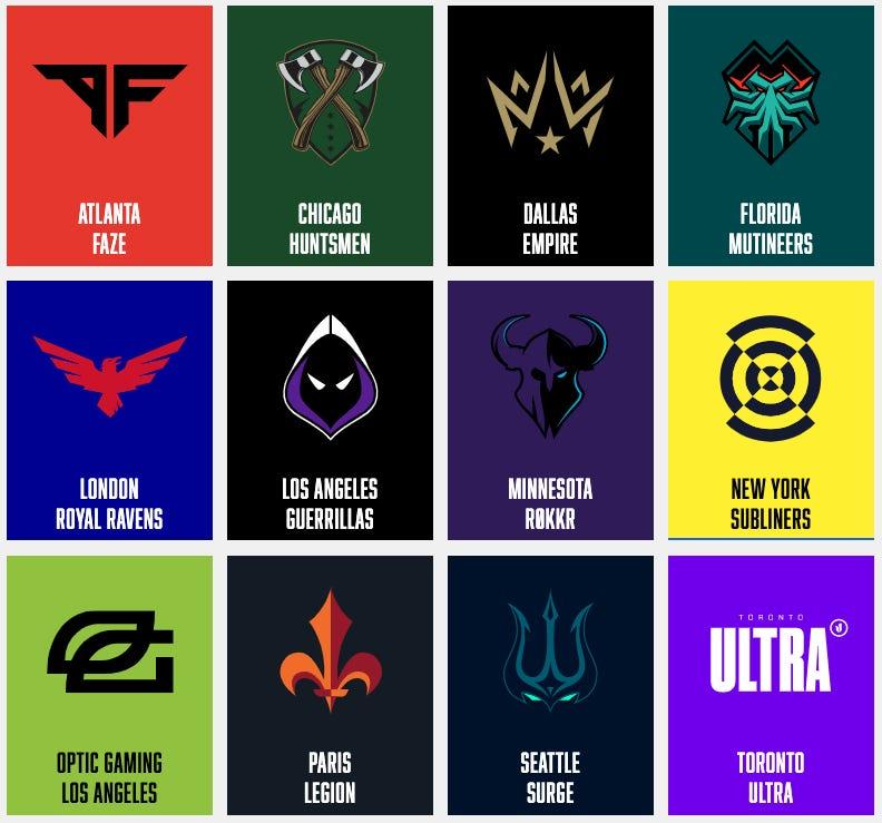 Call of Duty League logos