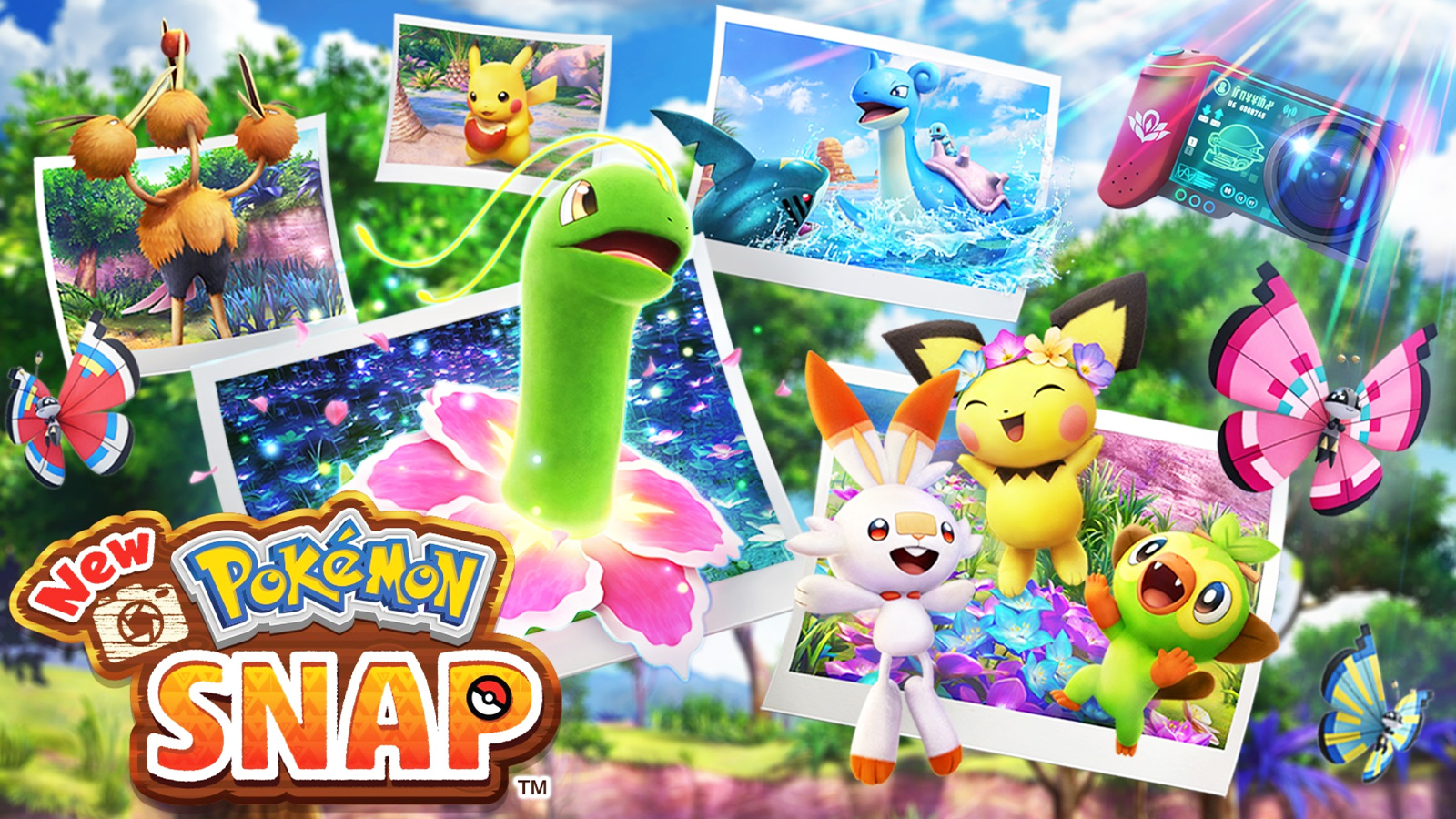 Screenshot of New Pokemon snap promotional.
