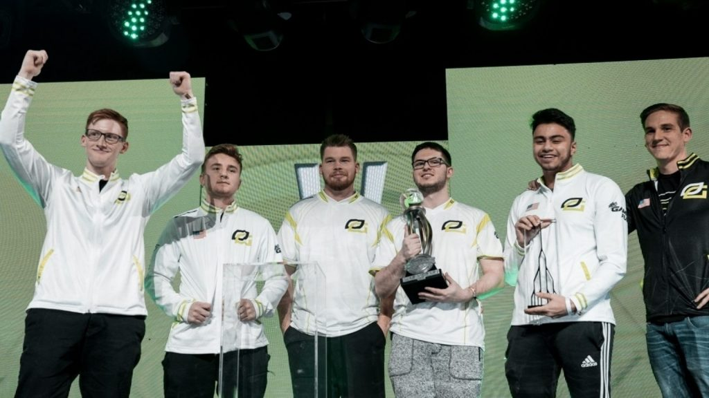 OpTic Gaming raising a trophy