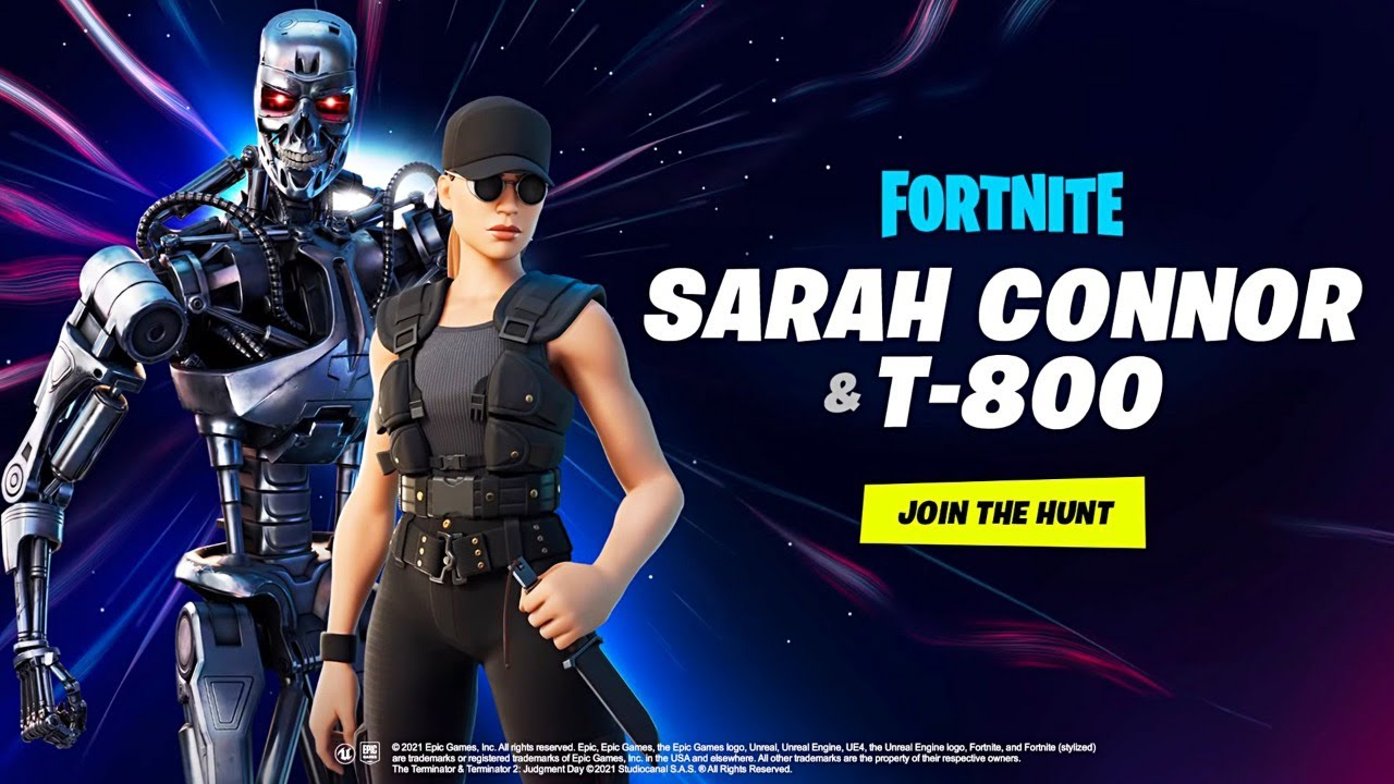Fortnite Sarah Connor and T-800 Terminator skins