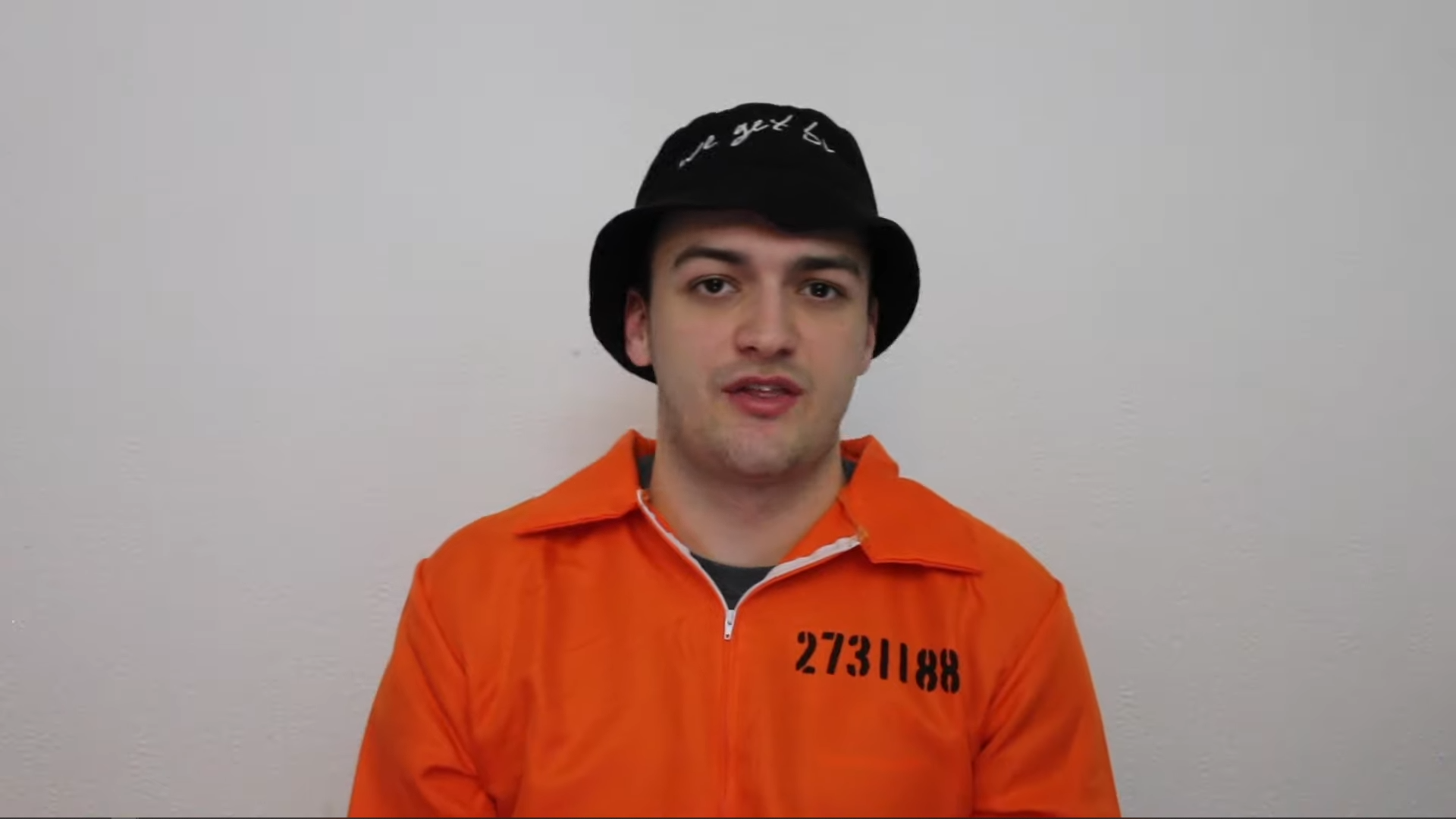 Harry Hesketh in prison outfit