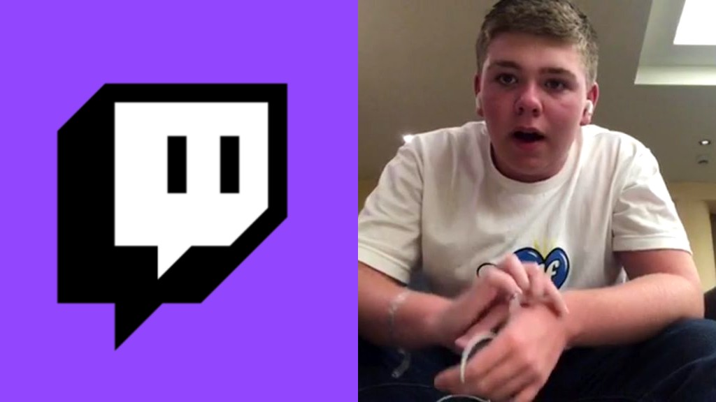 The Twitch logo next to streamer AverageHarry