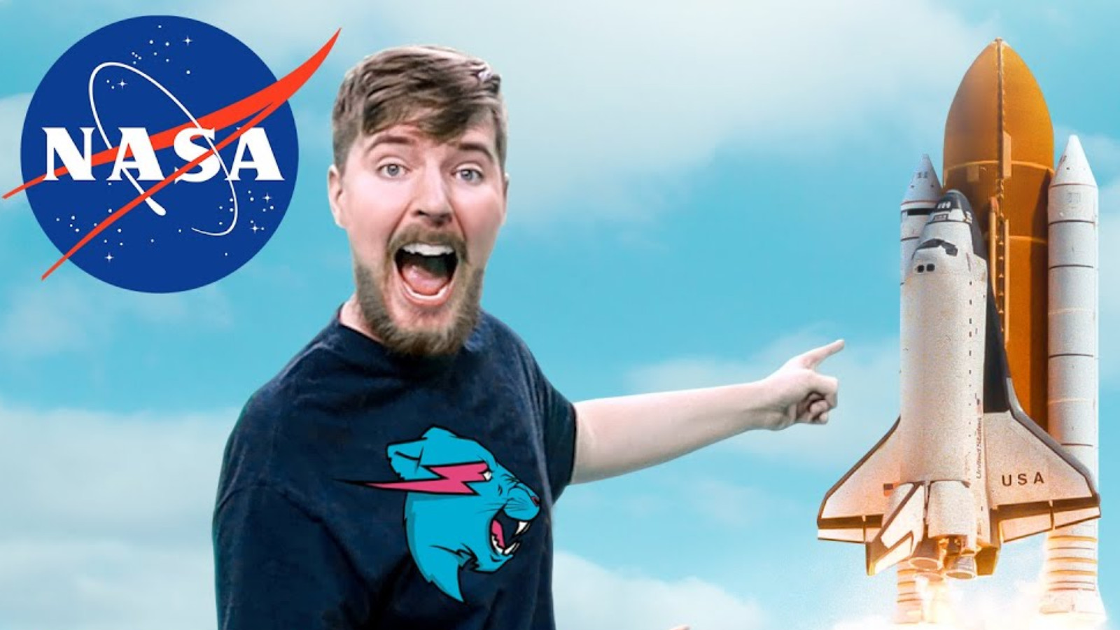 MrBeast points to NASA rocket