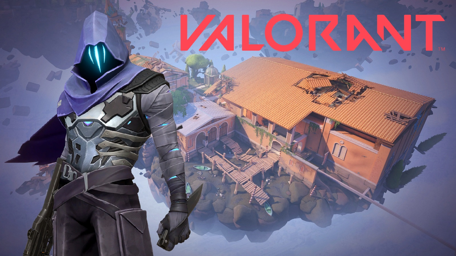 Valorant Omen Agent Range Map With Logo