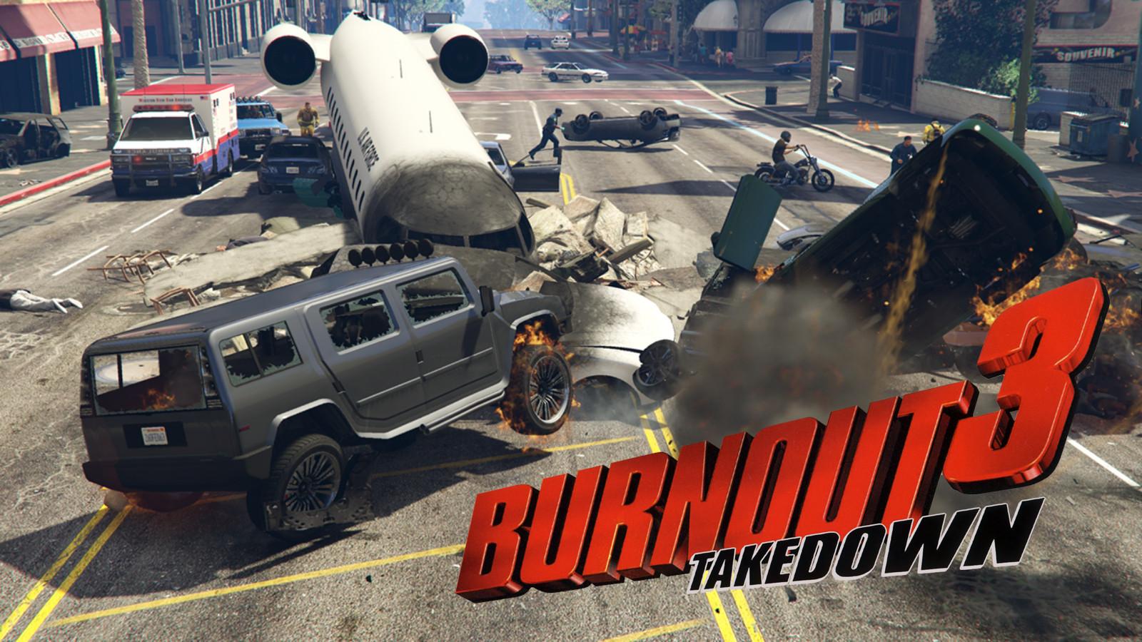 GTA V car crash in burnout 3 takedown