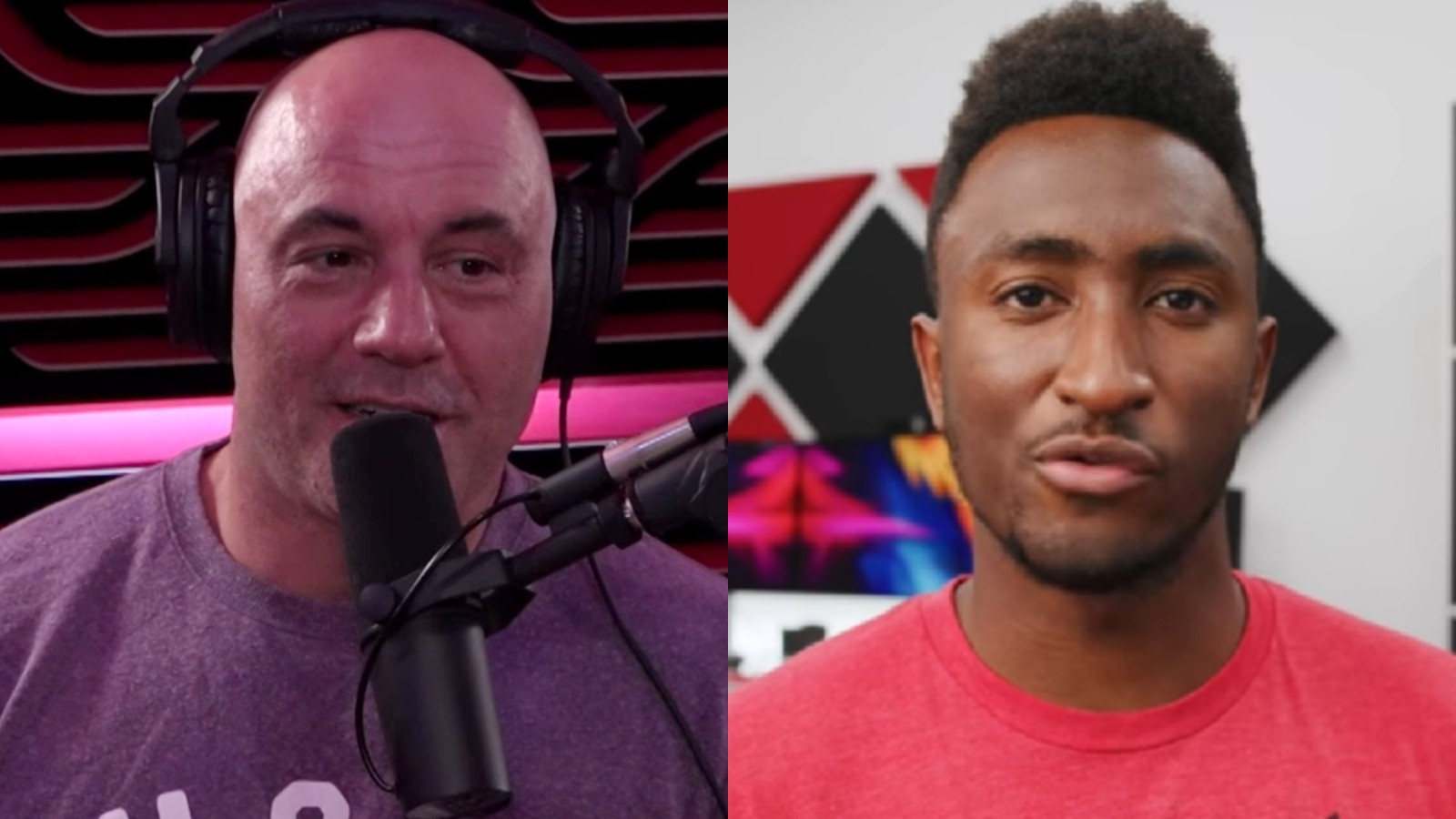 Joe Rogan next to YouTuber MKBHD