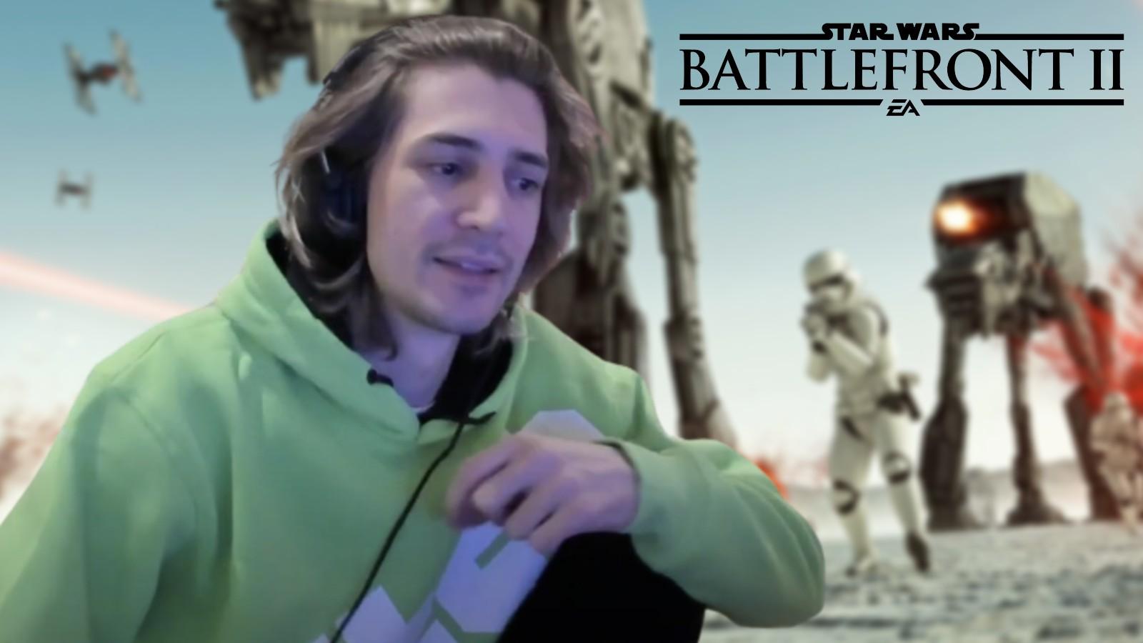 xQc on Star Wars Battlefront II