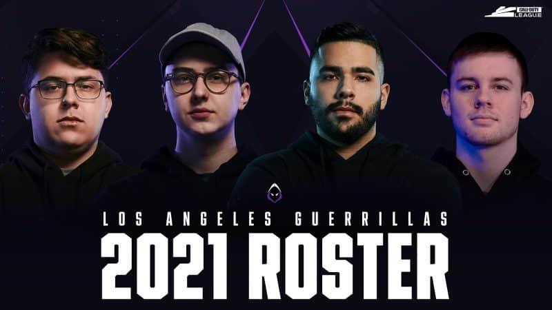 la guerrillas 2021 cdl roster