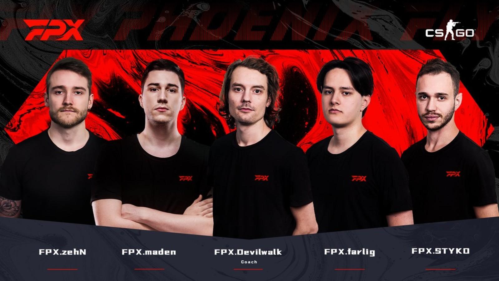 FPX sign ex-GODSENT CSGO Roster