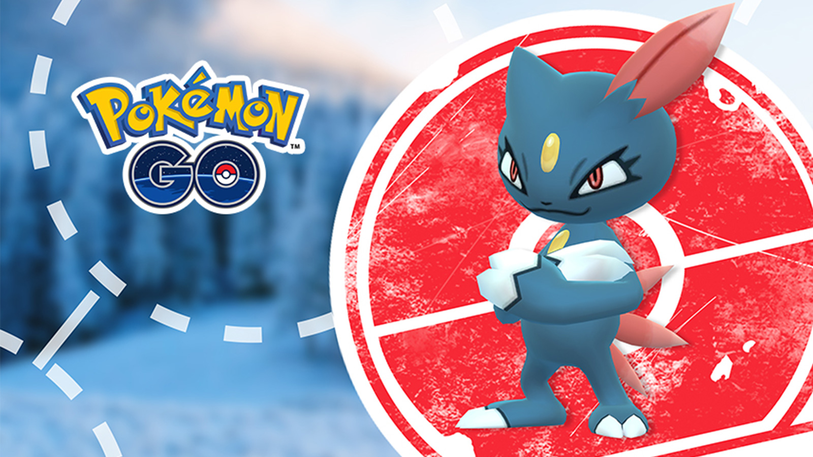 Screenshot of Sneasel in Pokemon Go.
