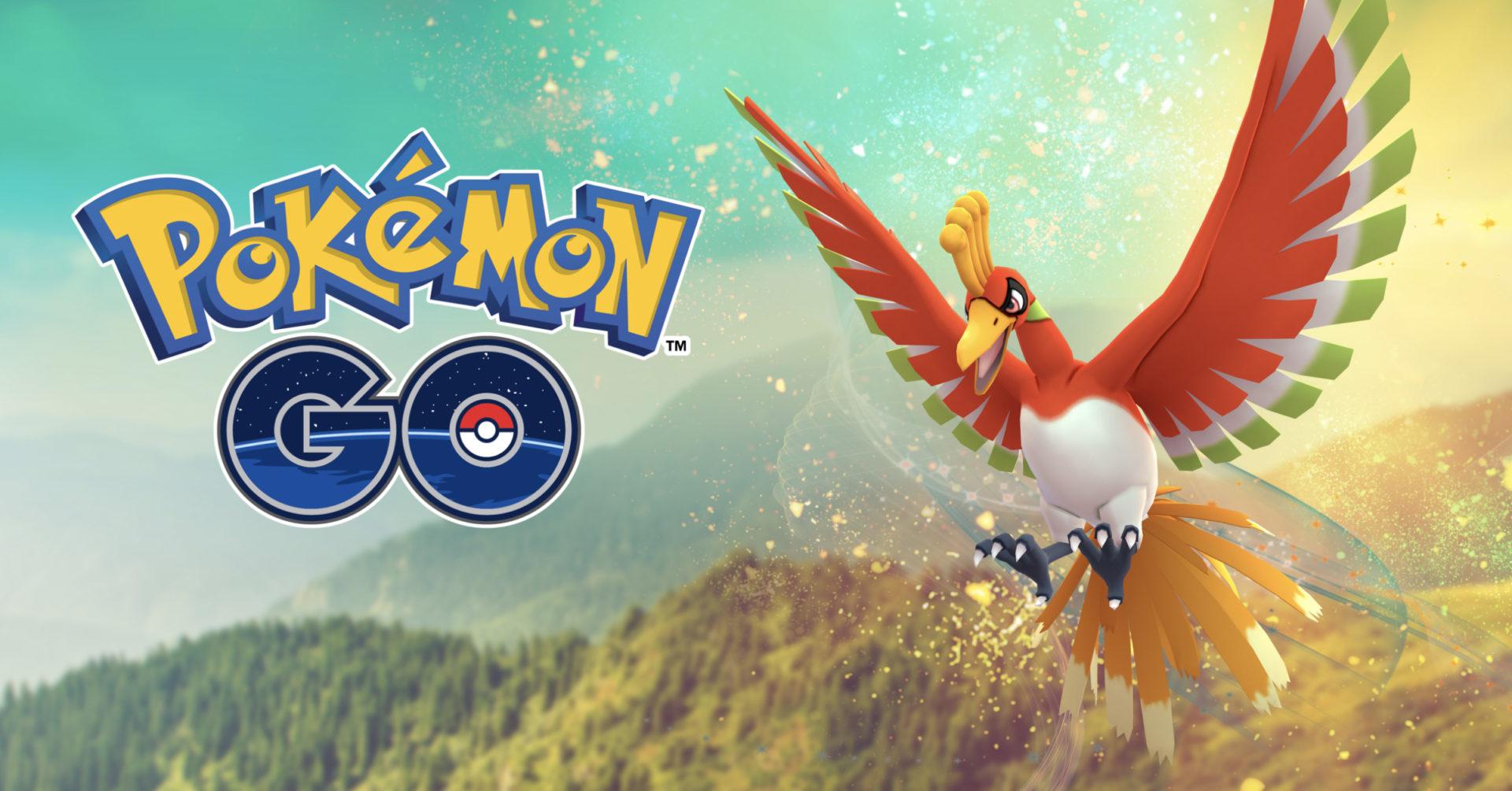 Pokemon Go Screenshot of Gold & Silver Legendary ho-oh promotional.