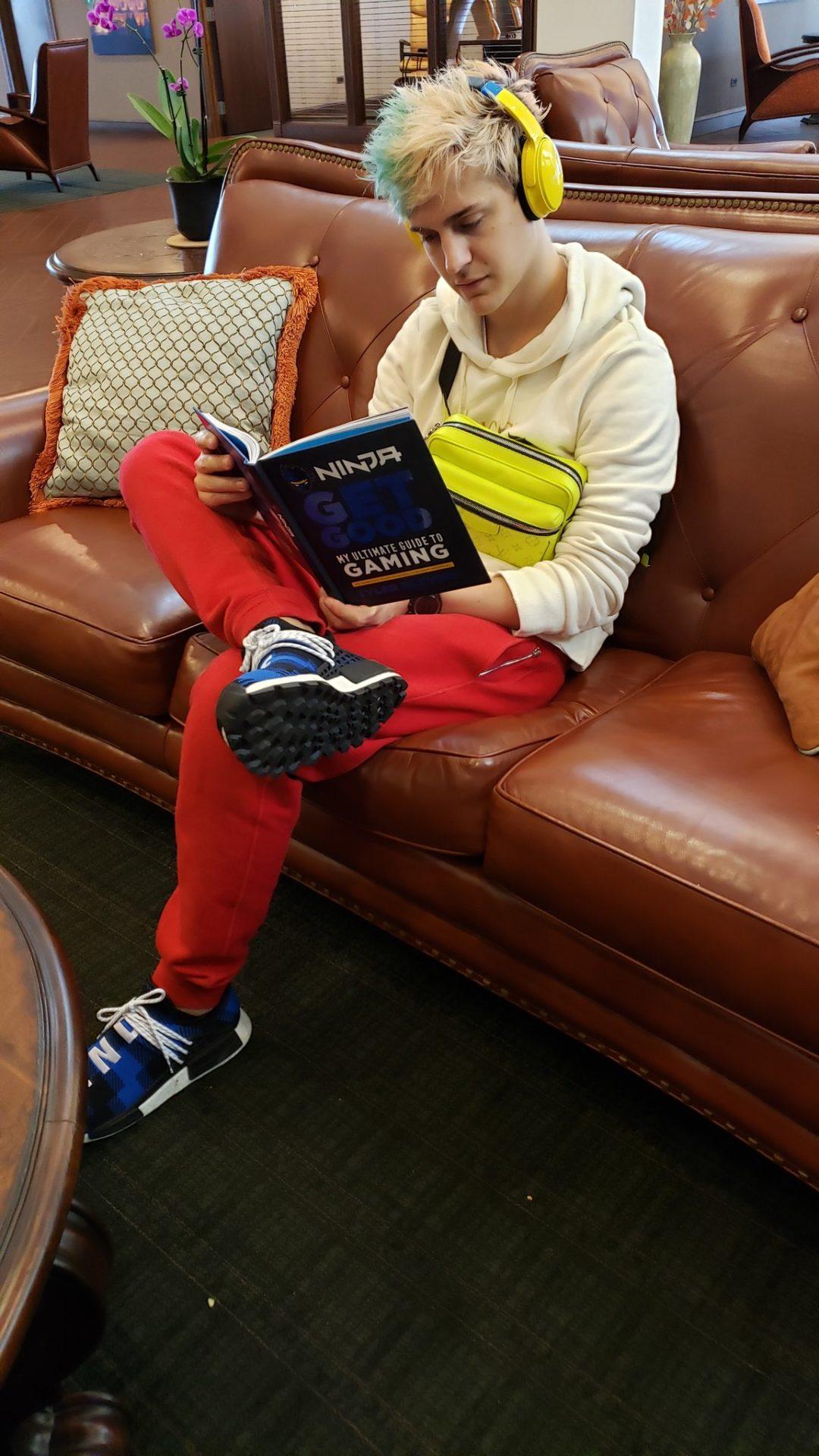 Ninja reads a book
