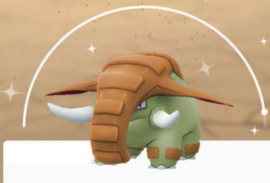 Screenshot of shiny Donphan in Pokemon Go.