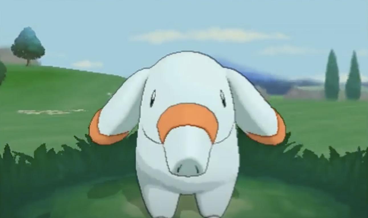 Screenshot of Shiny Phanpy in Pokemonn 3DS.