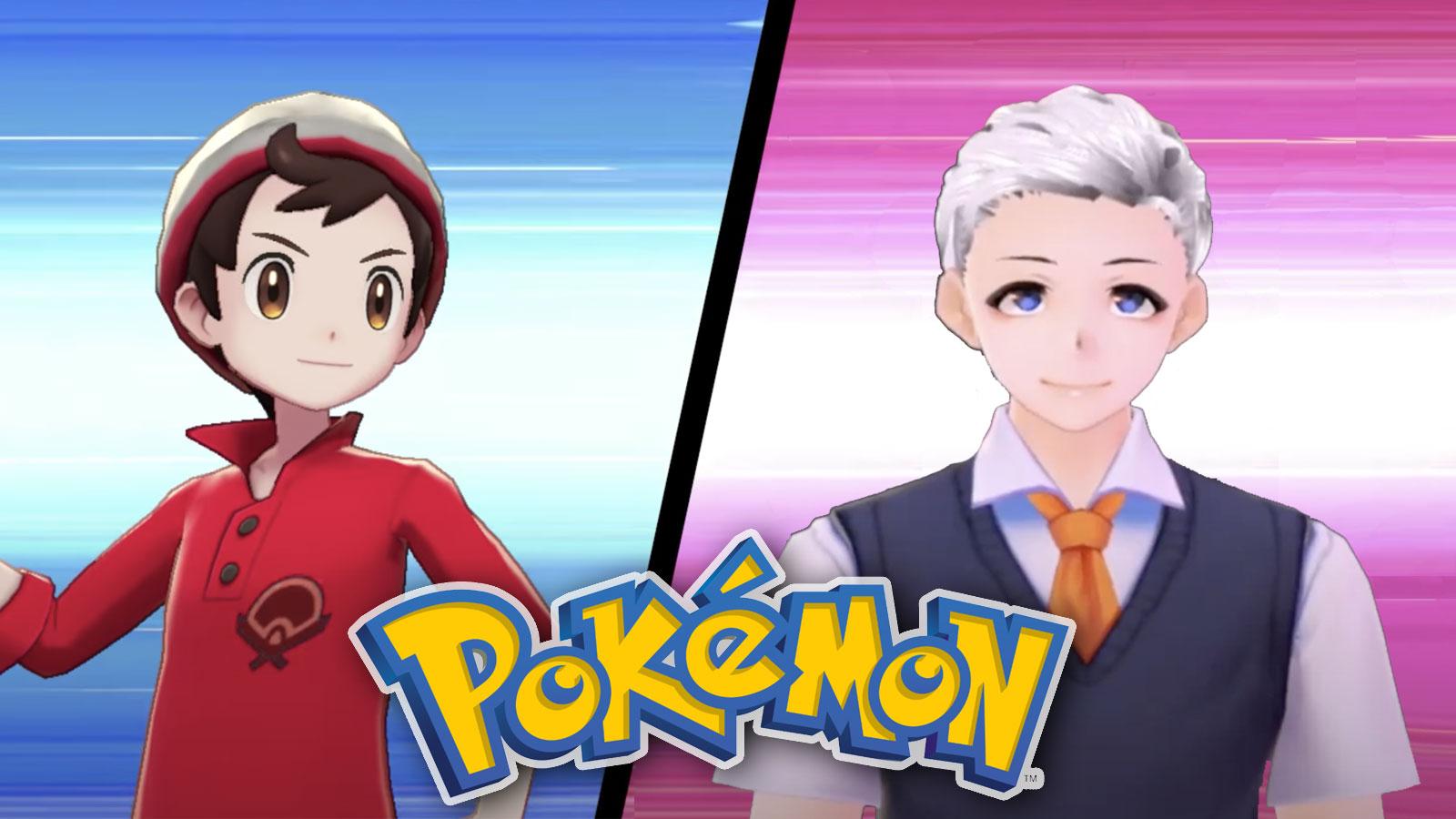 Screenshot of Pokemon Sword & Shield protagonist challenged by PewDiePie avatar.