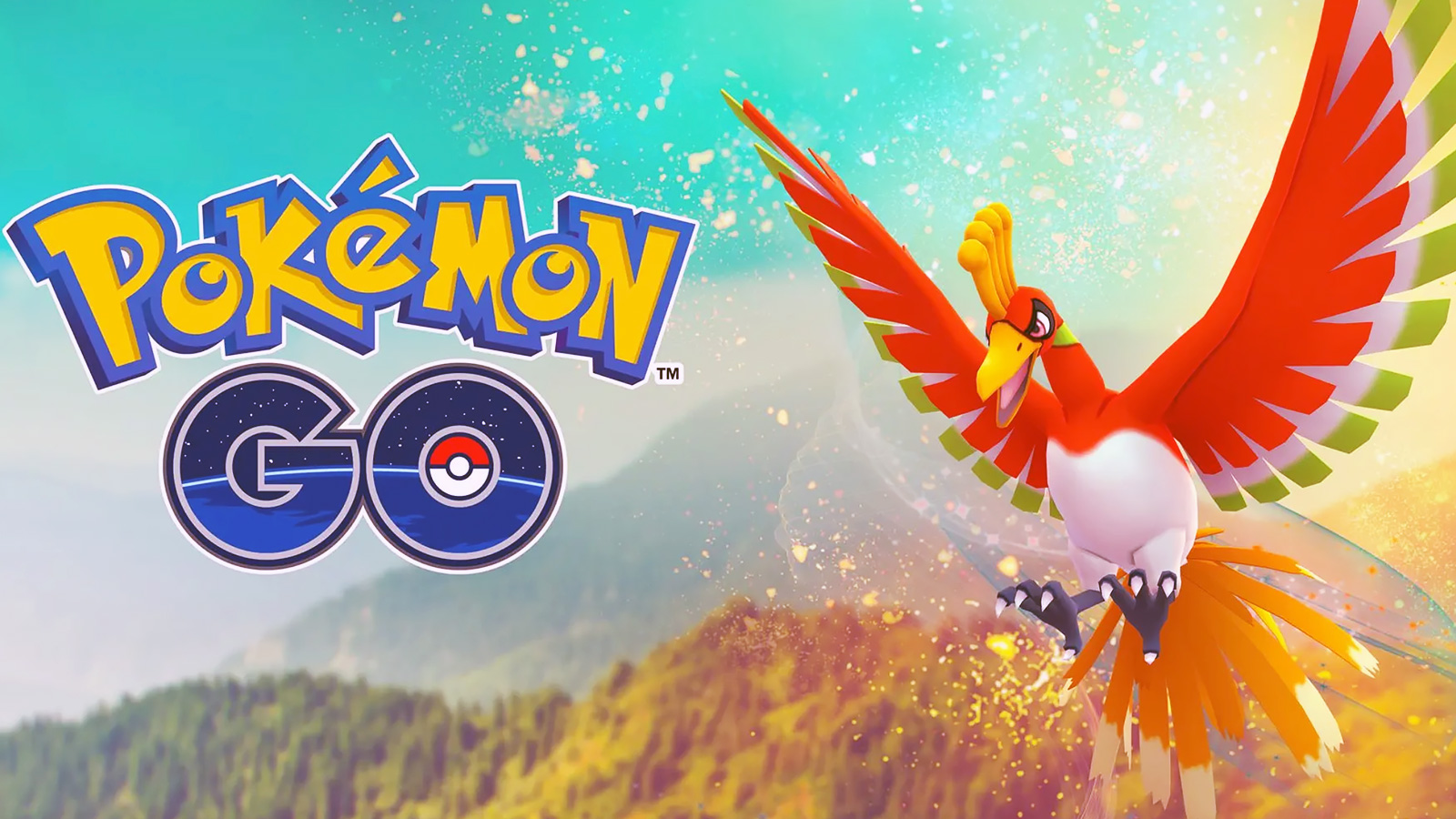 Screenshot of Ho-oh event in Pokemon Go.