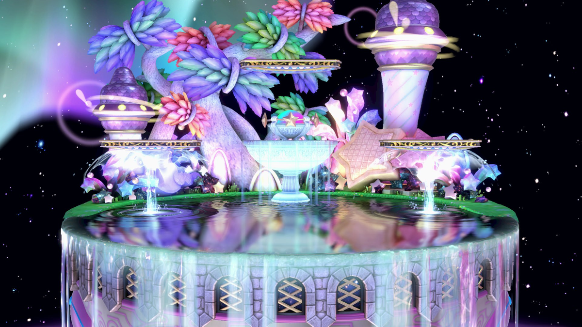 Fountain of Dreams stage in Smash
