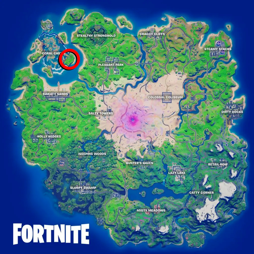 Fortnite Crashed Plane Location Map