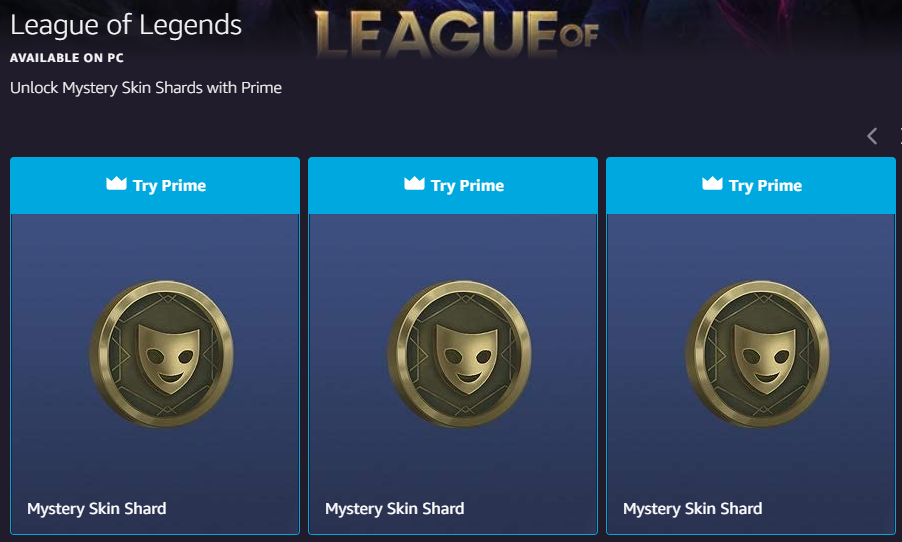 League of Legends Twitch Prime Gaming rewards