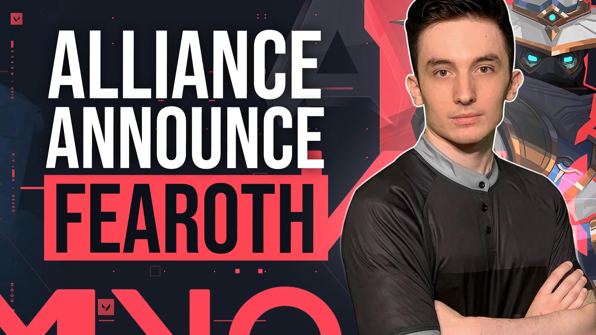 Alliance announced Fearoth as Valorant IGL