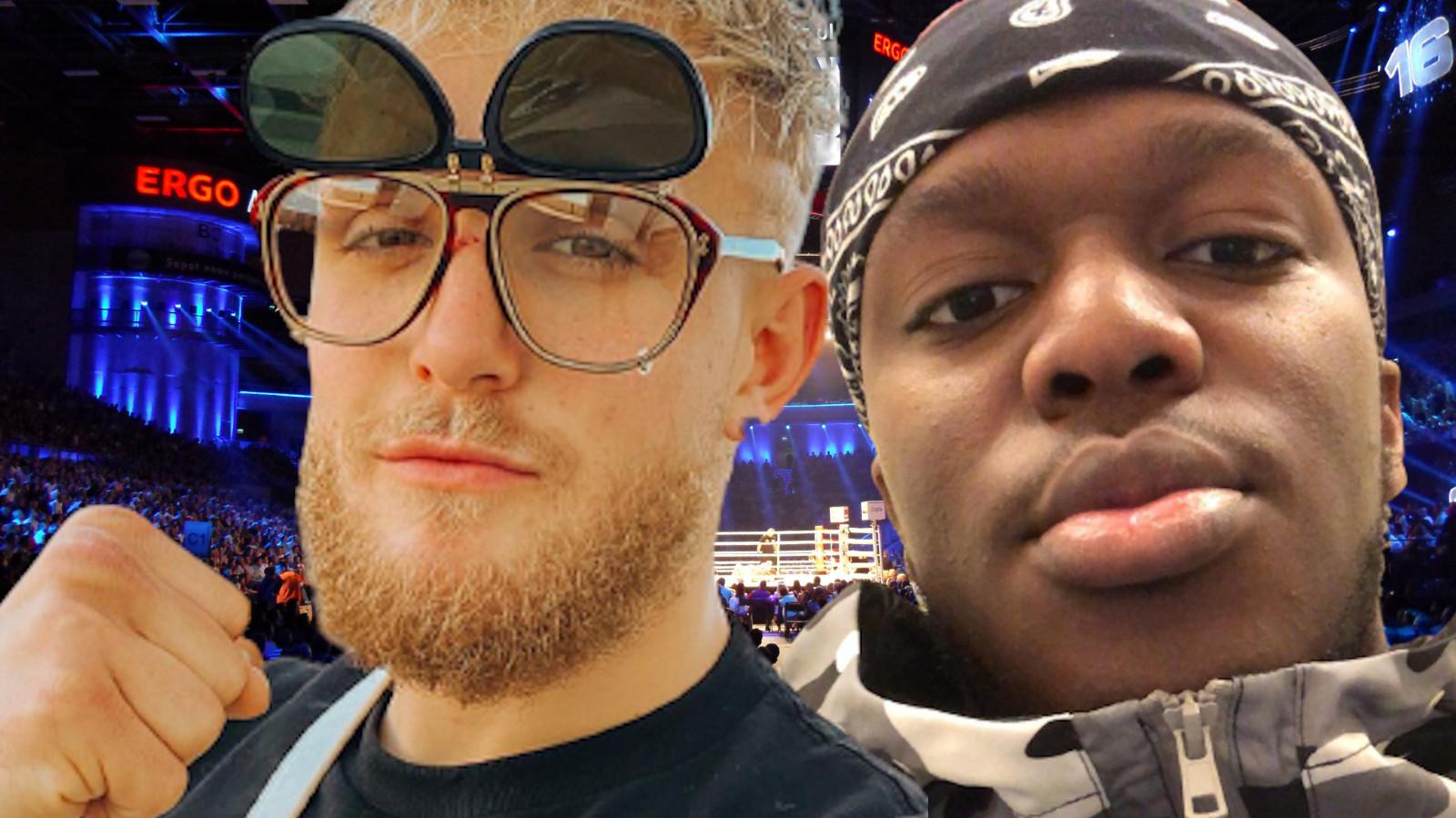 Jake Paul and KSI in boxing ring