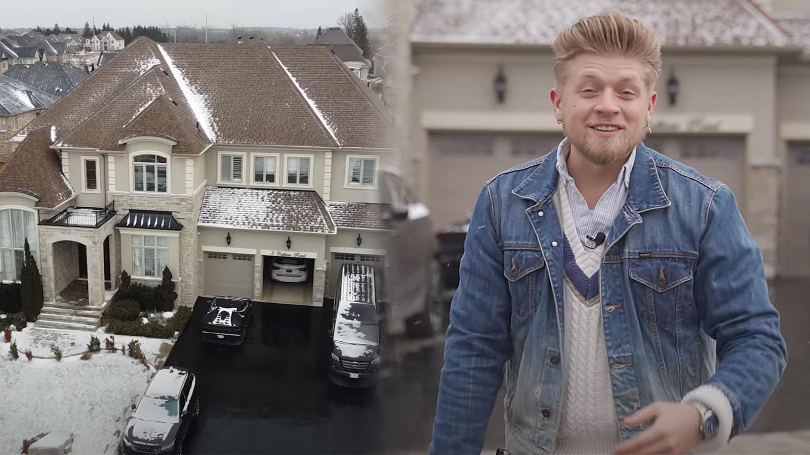 TikToker Aaron Vankampen goes viral for millionaire mansion videos