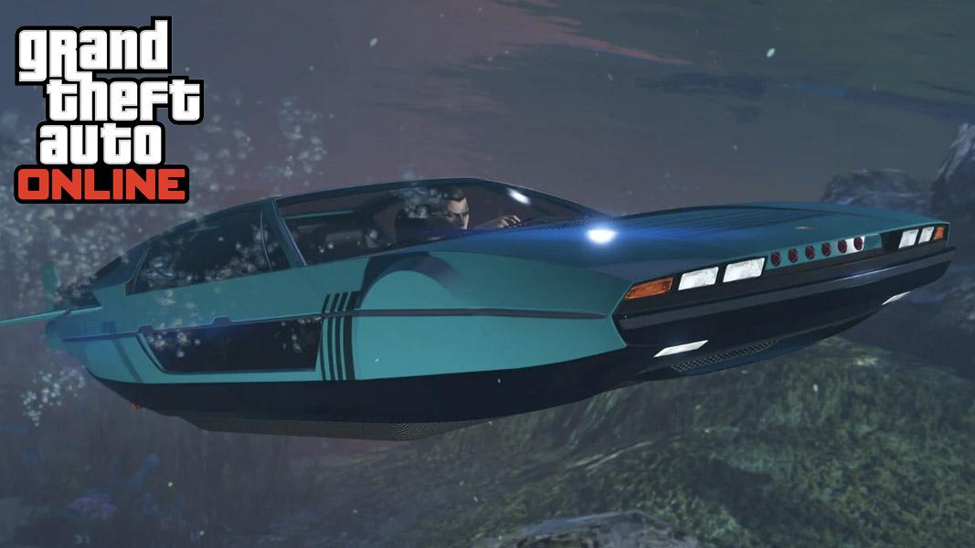 GTA Online car underwater
