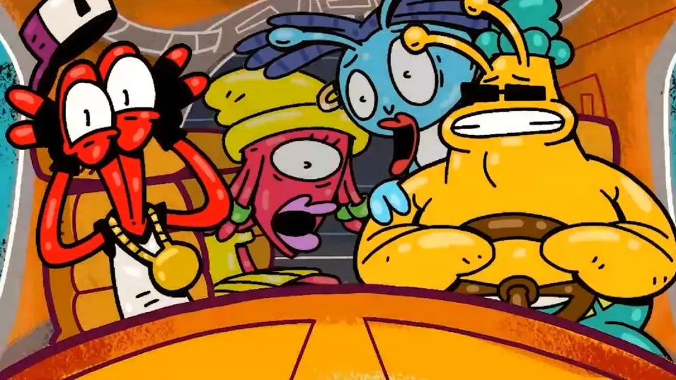 Toejam and Earl drive a bus
