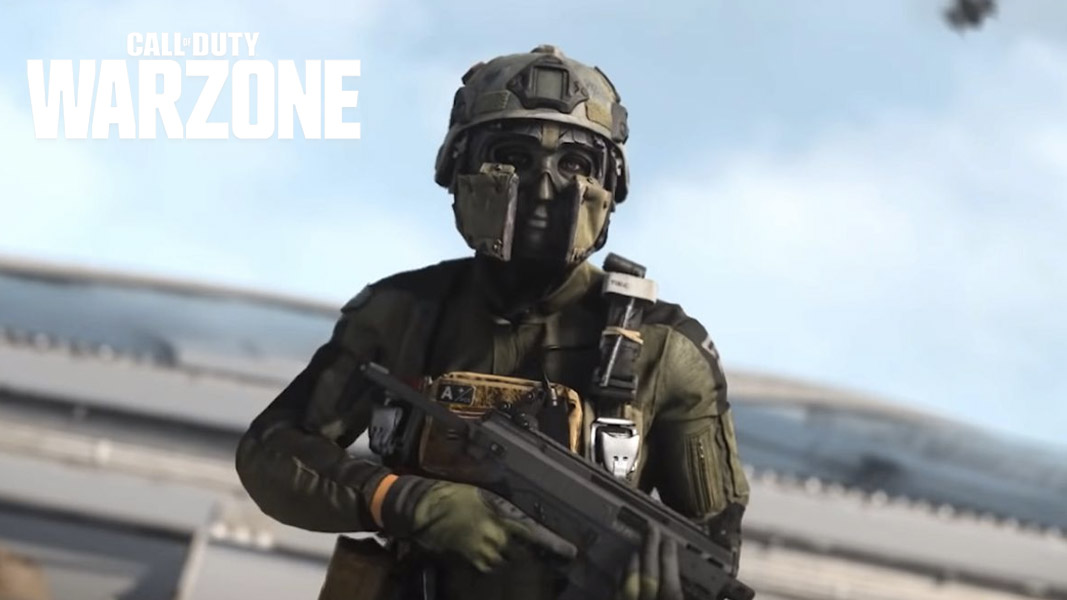 Roze from Warzone running on a roof