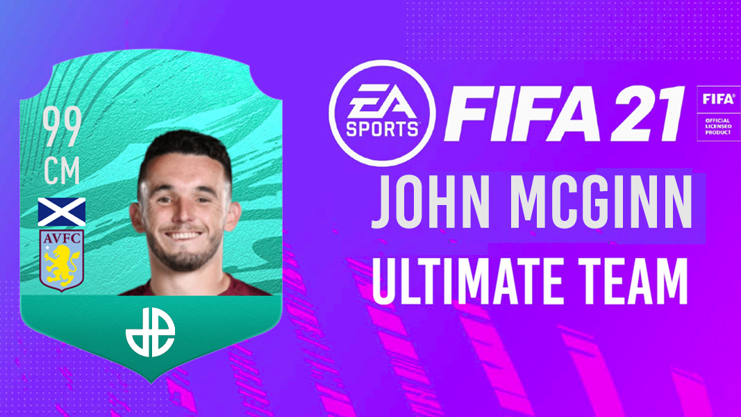 John McGinn 99 card on Dexerto background