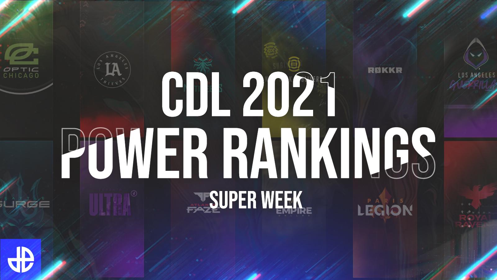Call of Duty League CDL2021 Power Rankings