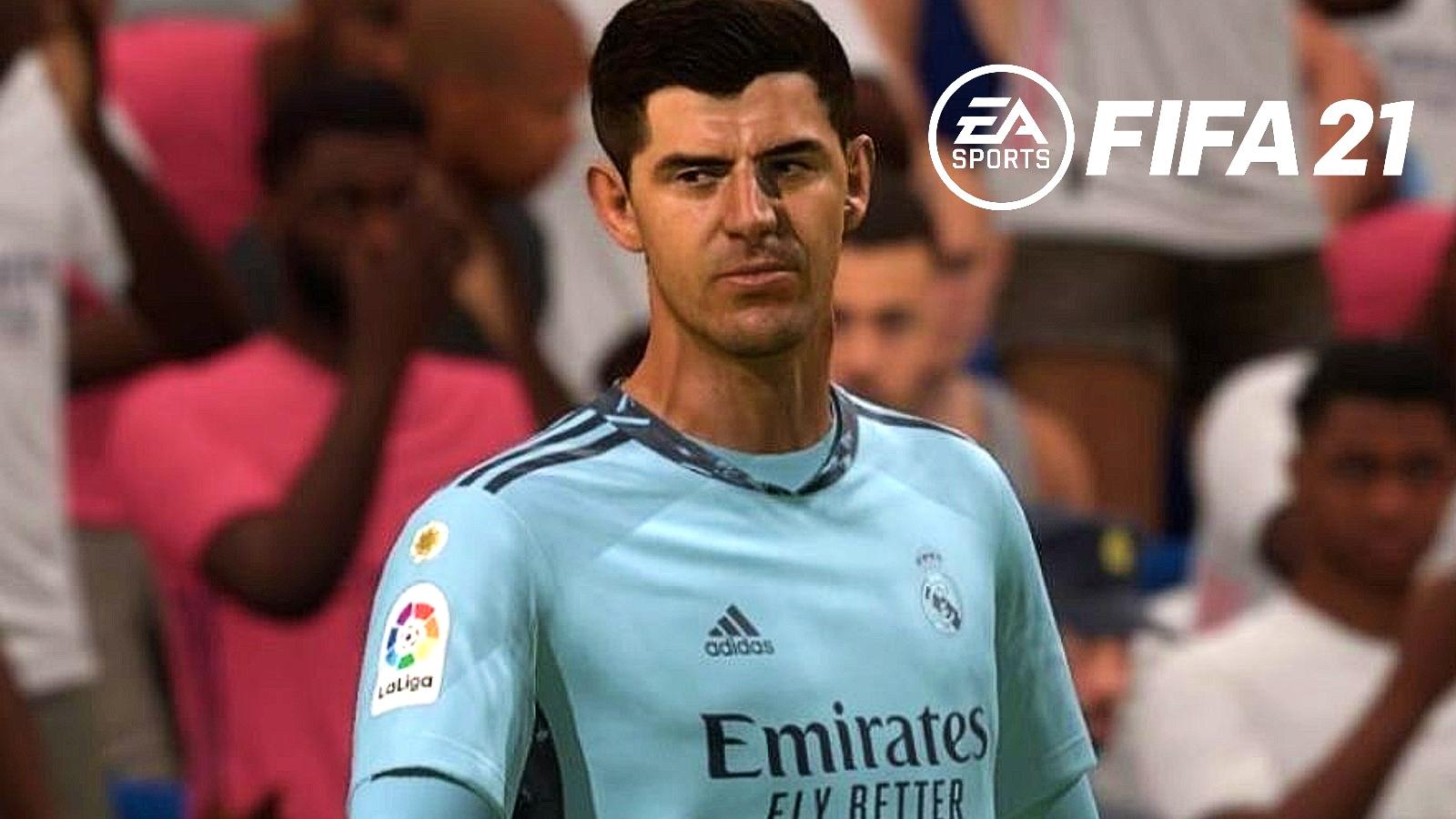 Real Madrid thibaut courtois fifa 21