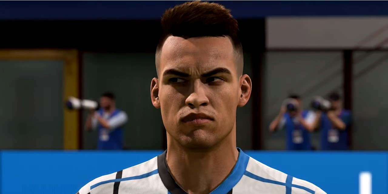 Lautaro Martinez in FIFA 21 with Inter Milan