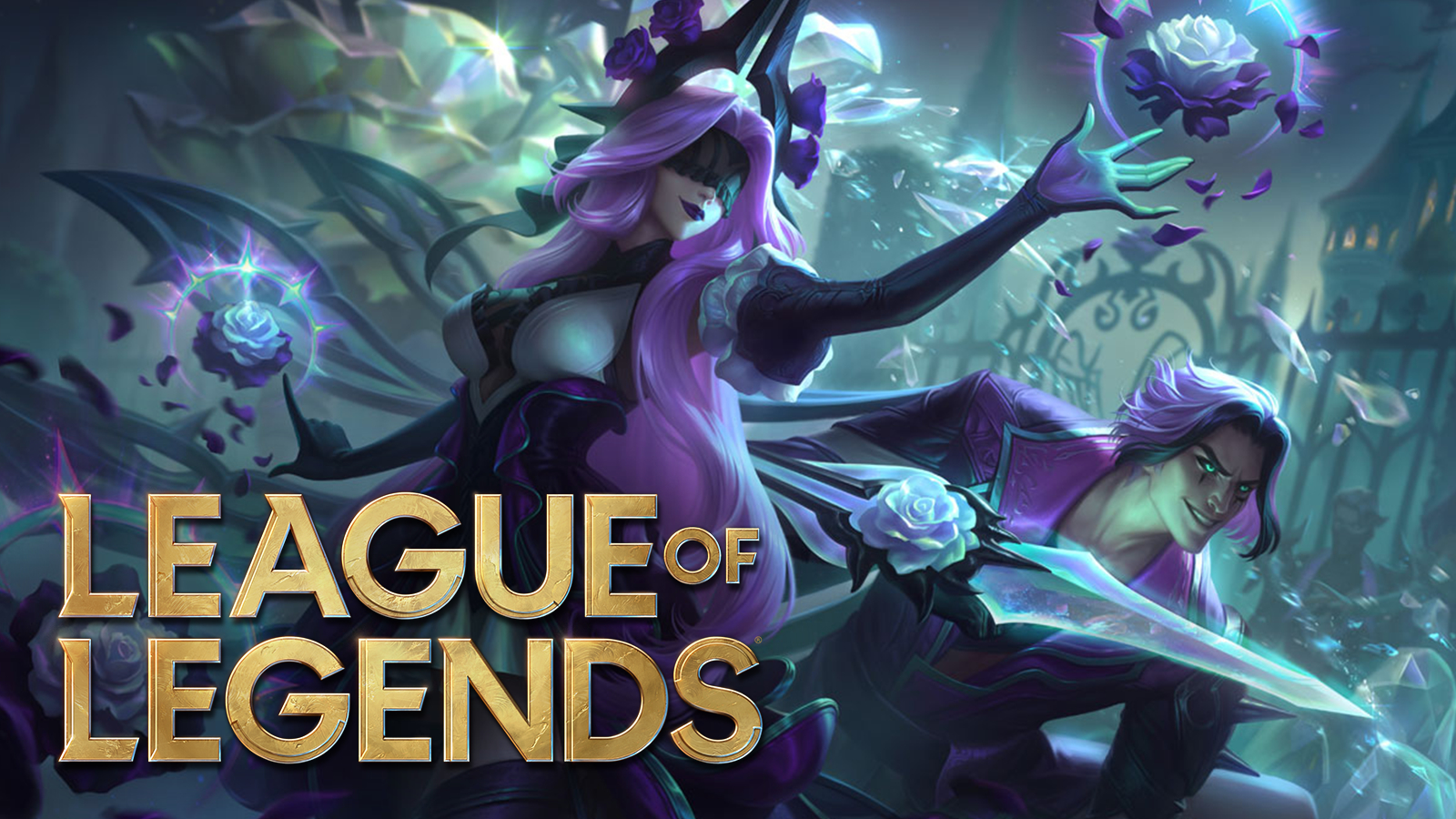 "Syndra and Talon ""Twisted Rose"" skins next to League of Legends patch 11.3."