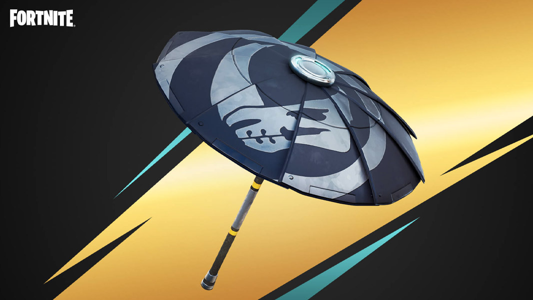 Mando Bounty umbrella from Fortnite