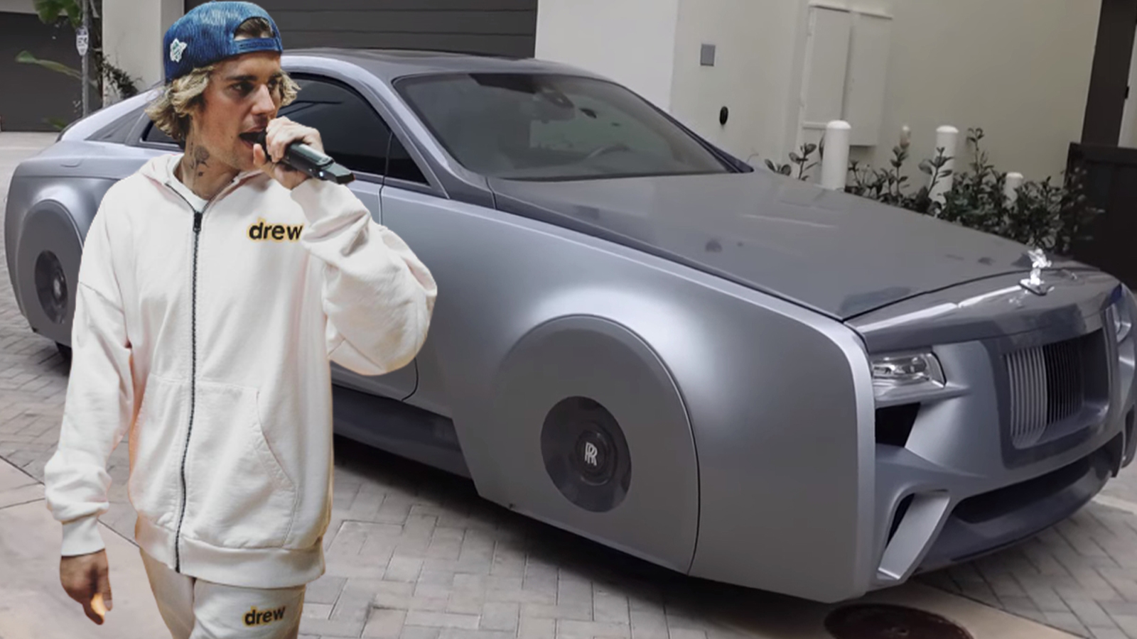 justin Bieber rolls royce west coast custom