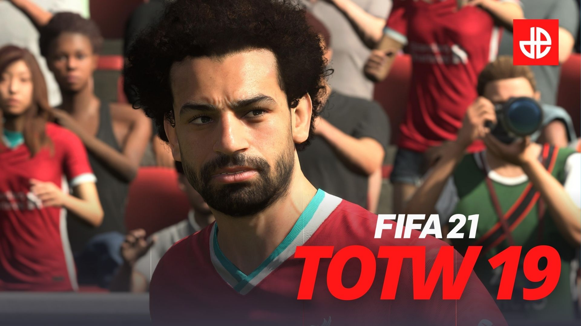 Mohamed Salah playing for Liverpool in FIFA 21 Team of the Week TOTW 19.