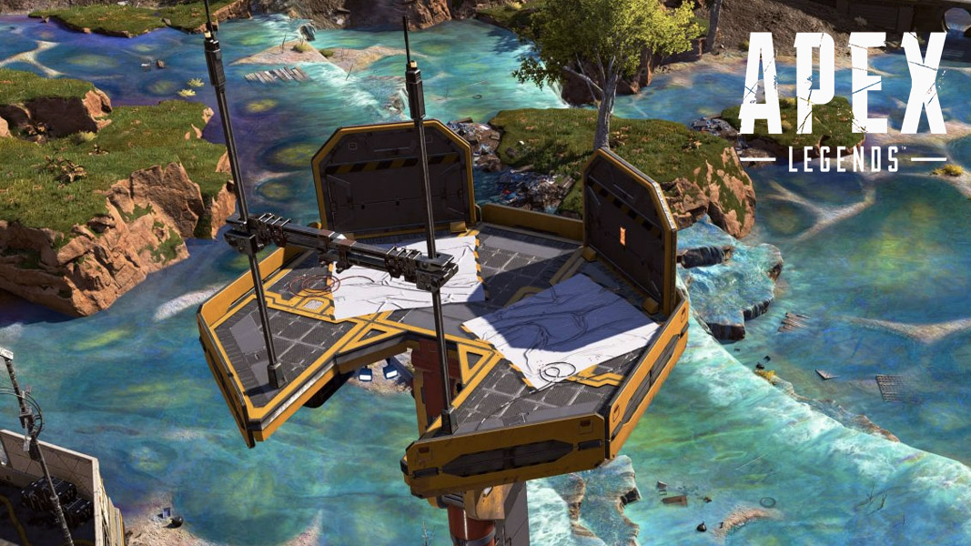 An observation tower raising in Apex Legends