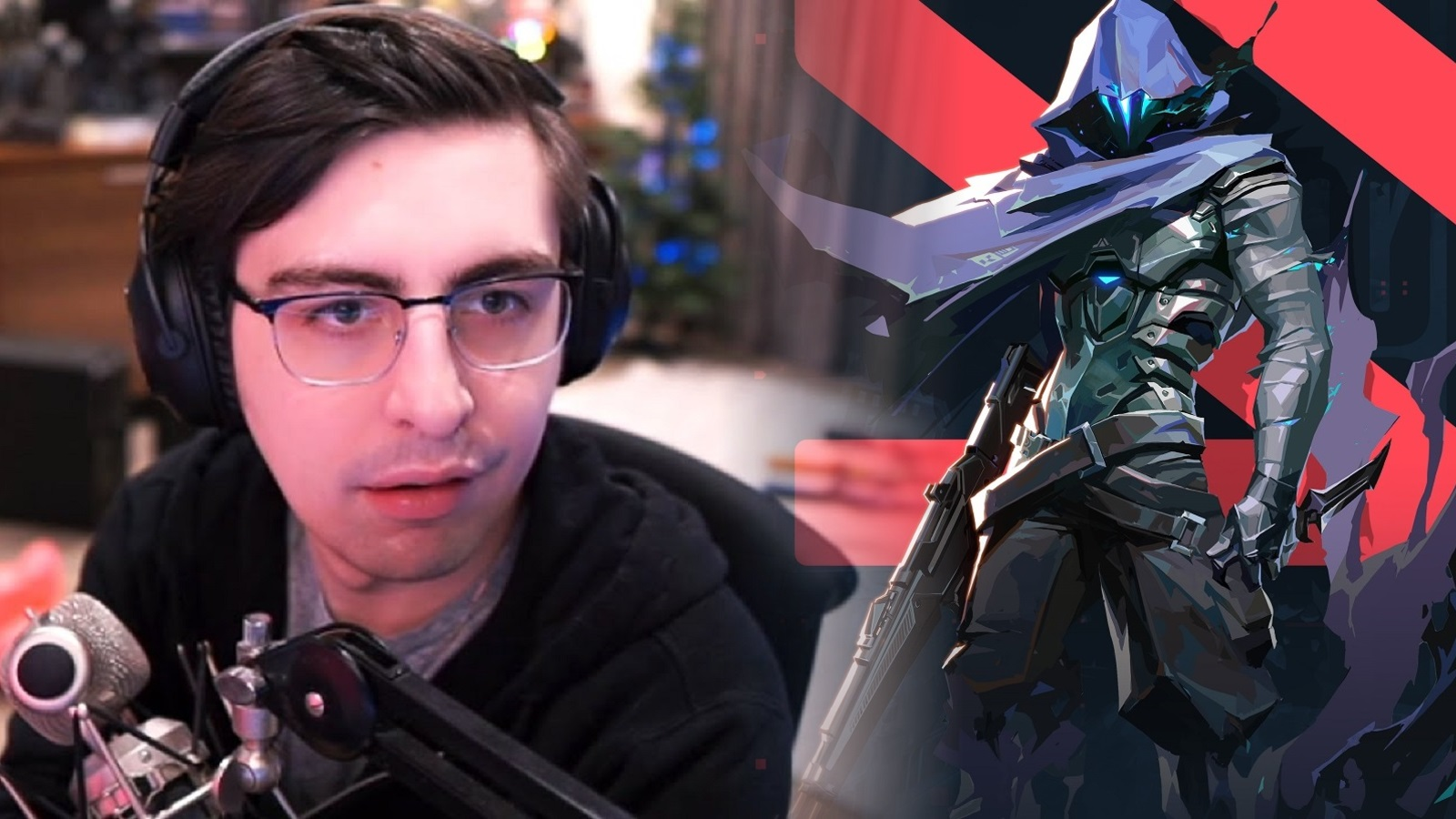 Shroud YouTube Thumbnail Valorant Omen Agent Blended