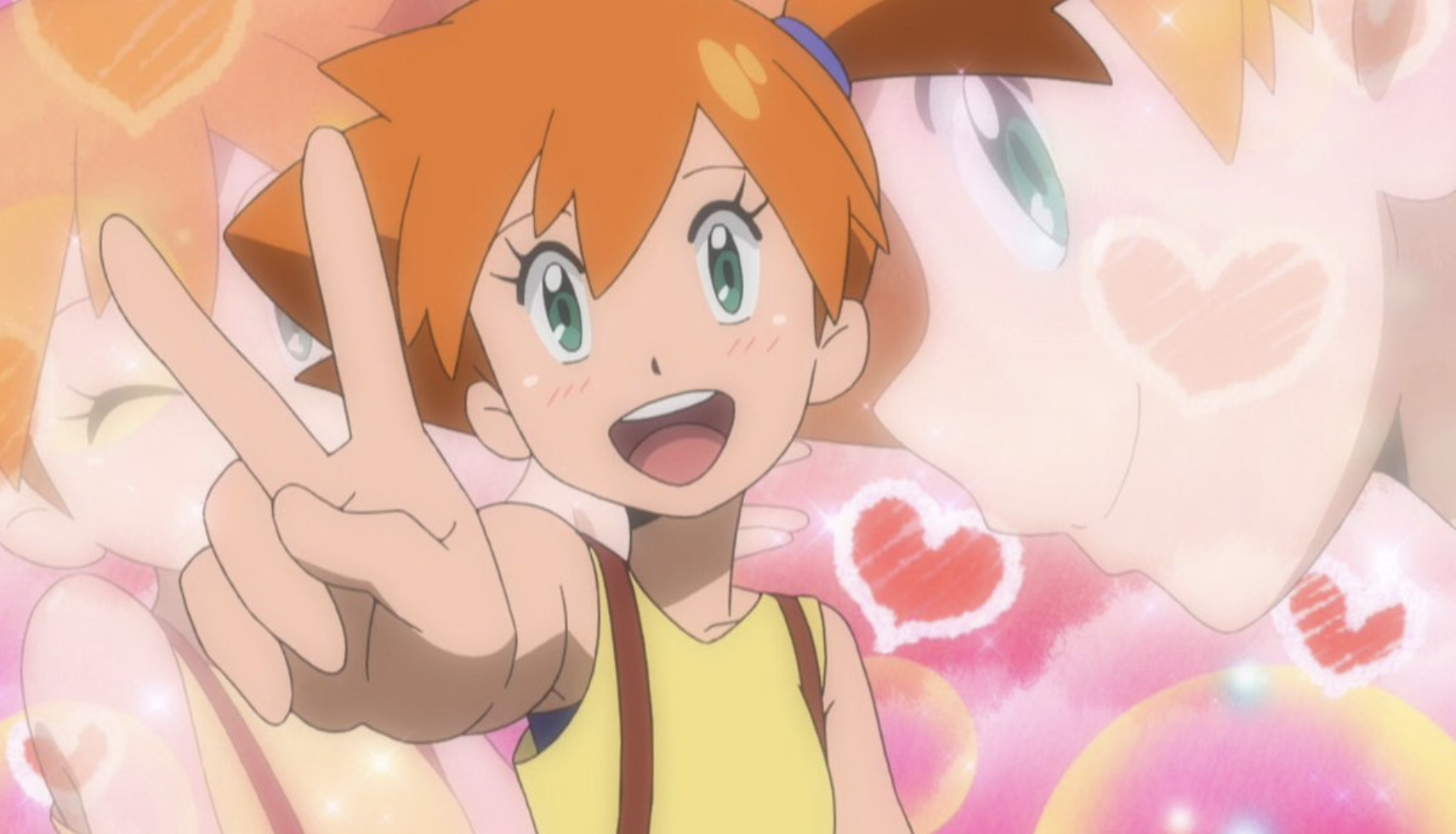 Screenshot of Misty from Pokemon anime Sun & Moon.