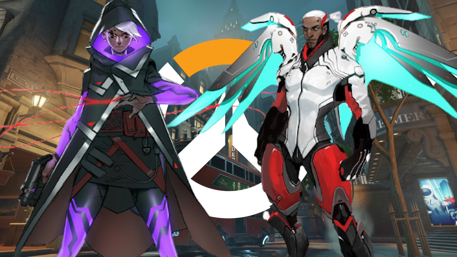 Early concept art for Sombra and Mercy