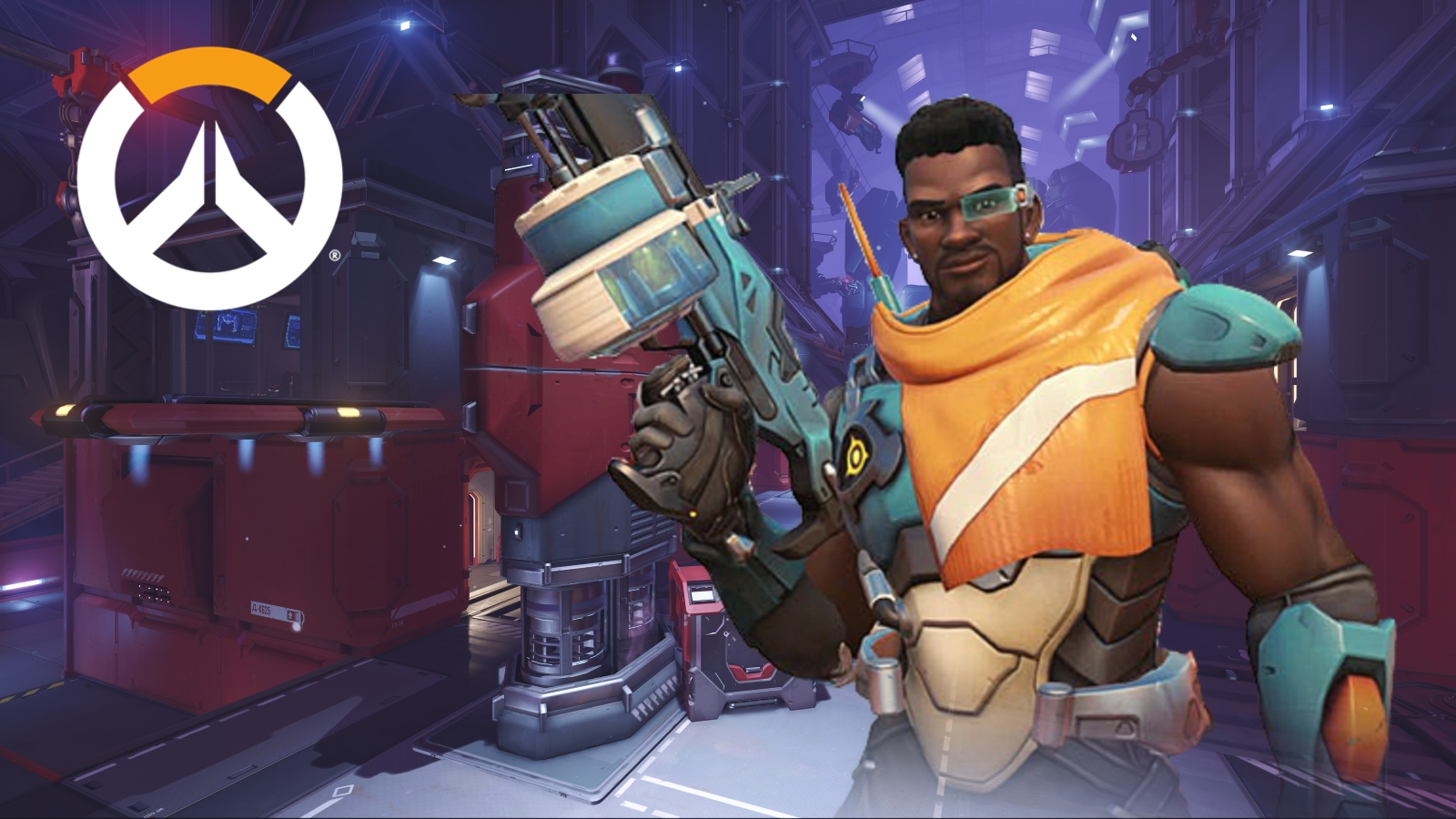 Baptiste Overwatch on Volskaya Industries with logo
