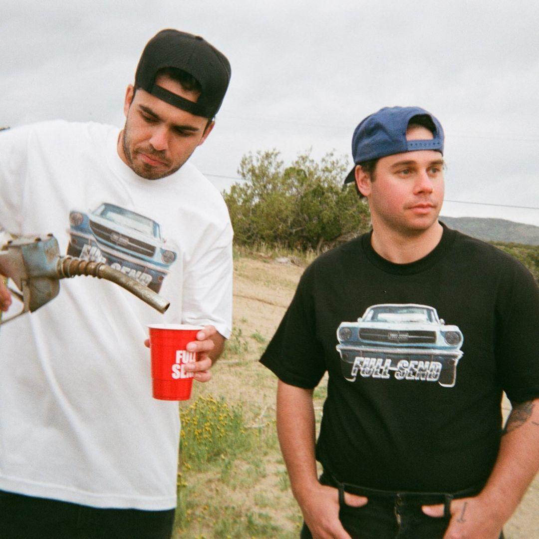 Kyle and Jesse of NELK Boys Full Send merch