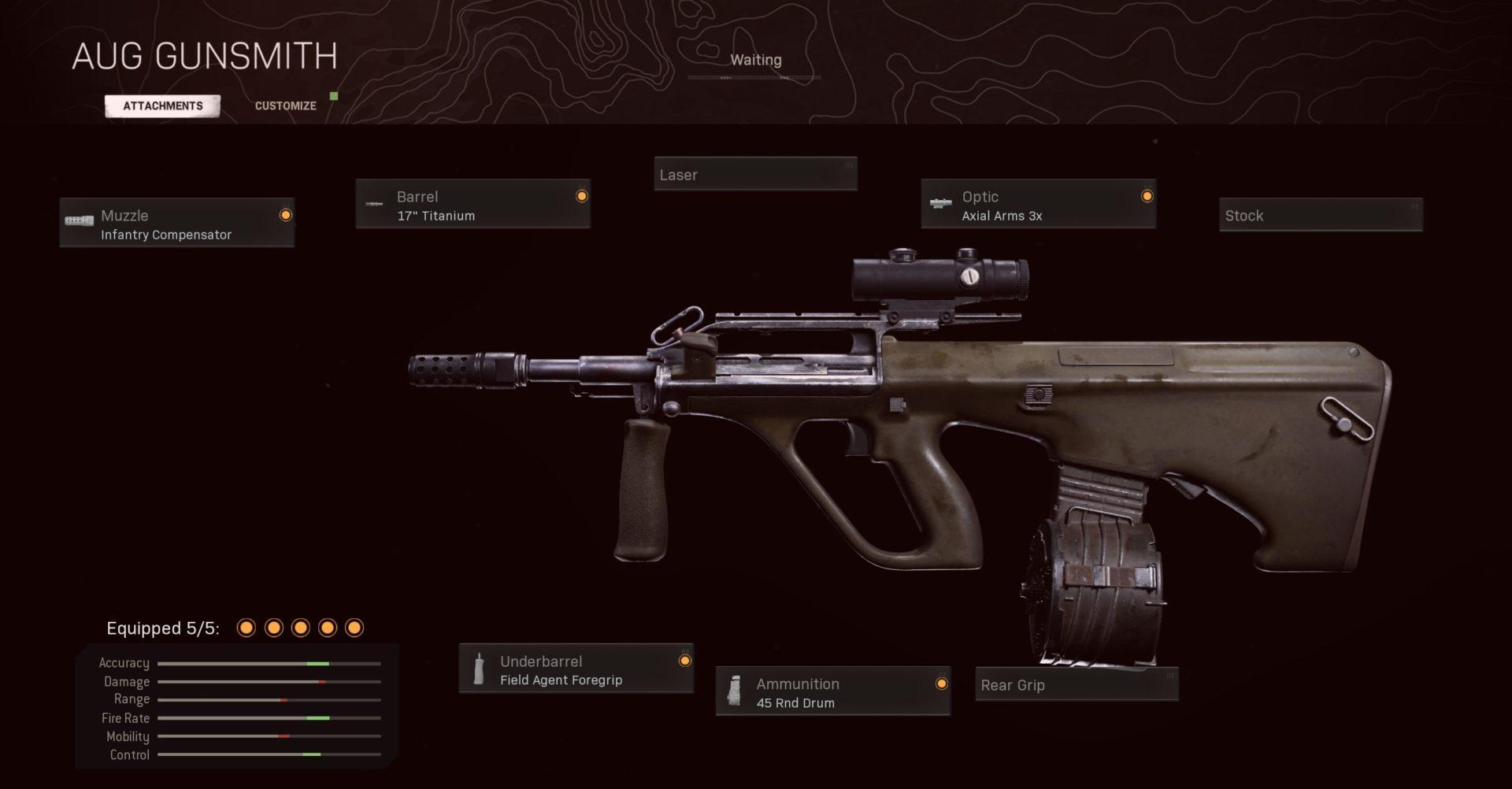 Black Ops Cold War AUG