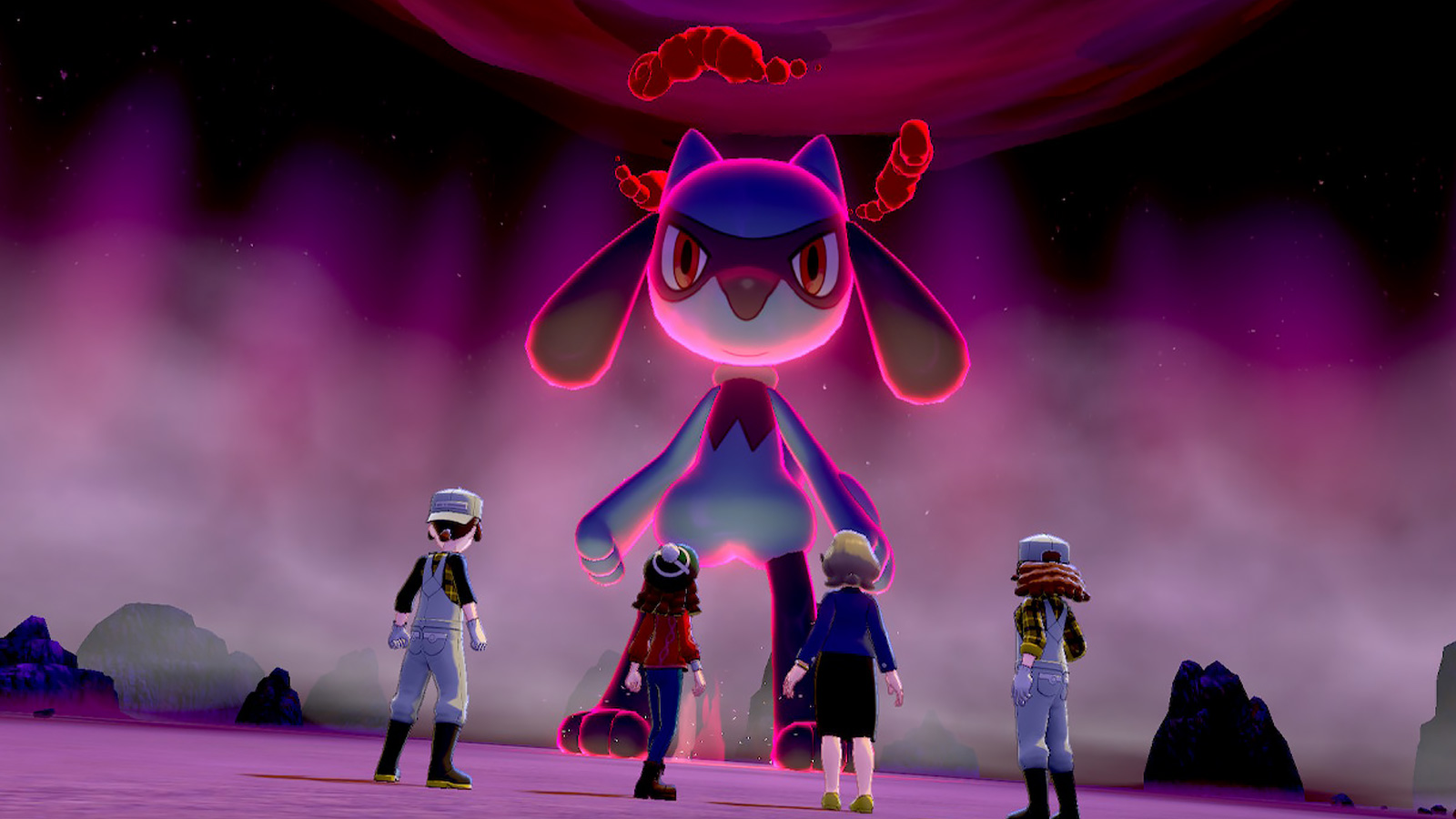 Screenshot of Max Raids in Pokemon Sword & Shield.
