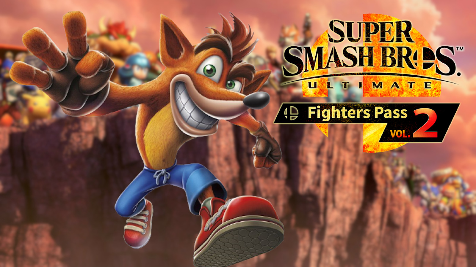 Crash Bandicoot in Smash Ultimate fighters pass volume 2