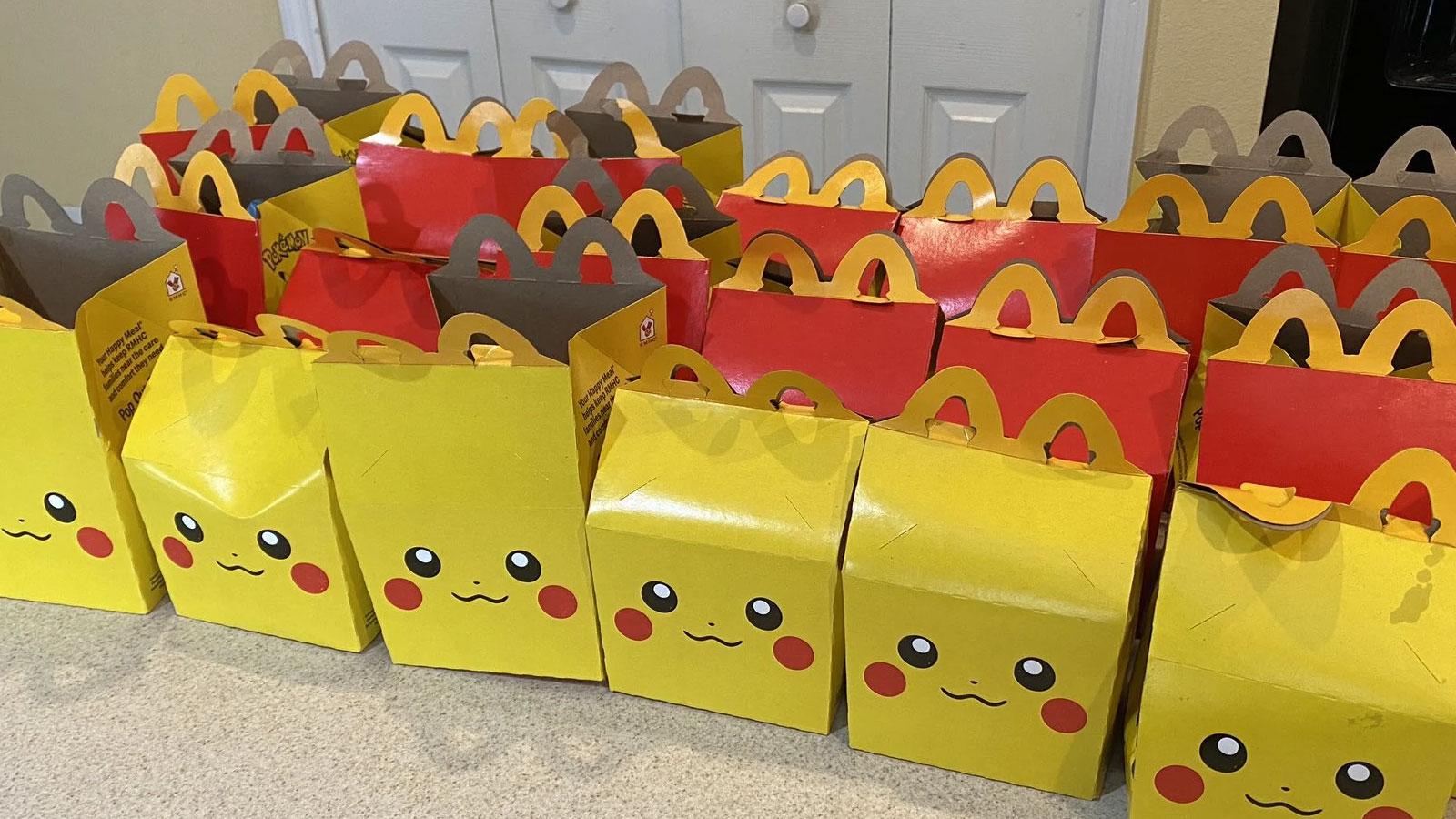 Screenshot of Pokemon 25th Anniversary McDonalds Happy Meals.